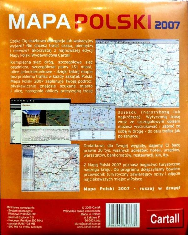 MAPA POLSKI 2007 CARTALL PC CD