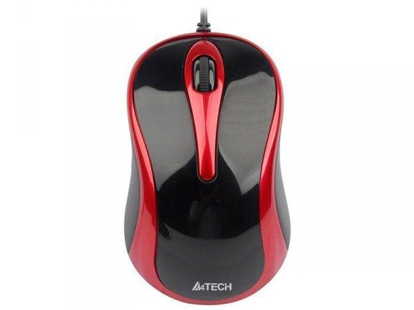 Mysz A4 Tech V-Track N-350-2 Czarny/Czerwony USB
