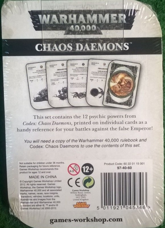 CHAOS DAEMONS PSYCHIC POWERS
