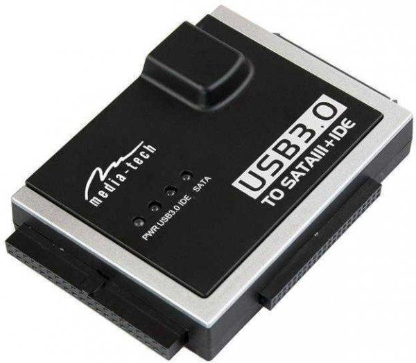 Konwerter adapter USB 3.0 do HDD SATA/IDE Media-Tech MT5100