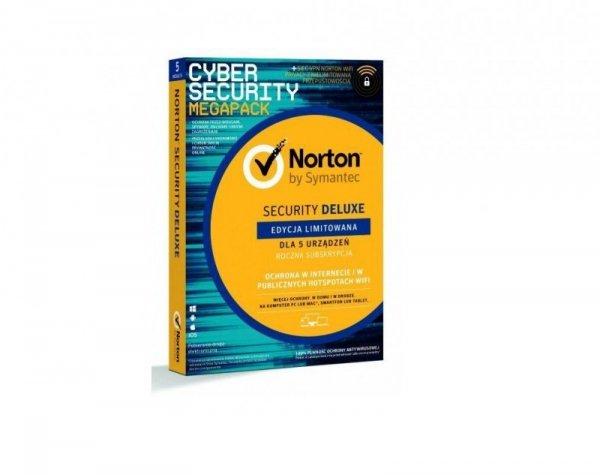 NORTON SECURITY DELUXE 3.0 PL 1 USER 5 DEVICE 1Rok + WiFi Privacy