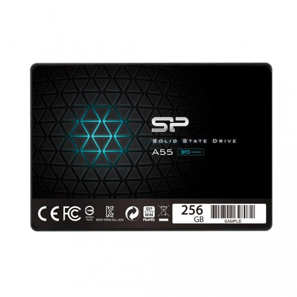 Silicon Power Dysk SSD Ace A55 256GB 2.5'', SATA3 6GB/s, 550/450 MB/s, 3D NAND