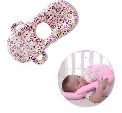 Poduszka do spania niemowląt + miejsce na butelkę 2w1