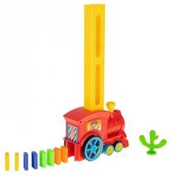 Układanka Domino z pociągiem + dźwięk 60 el.