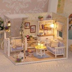 Domek dla lalek drewniany retro model DIY 3013