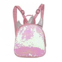 Plecak przedszkolaka cekinowy mini jednorożec różowy