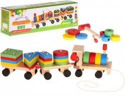 Sorter drewniany układanka zręcznościowa pociąg