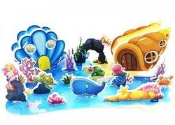 Puzzle 3D tekturowe wodny świat
