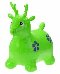 Skoczek gumowy jelonek jeleń zielony