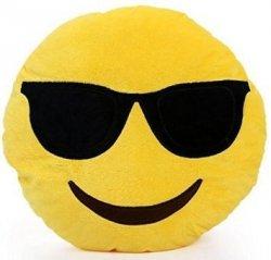 Poduszka Dekoracyjna  Emotki Emoji - okulary