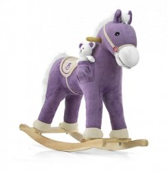 Koń na biegunach Pony Purple - bardzo miły w dotyku
