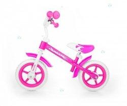 Rowerek biegowy DRAGON rożowy - rozwój i zabawa