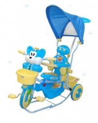 Rowerek trójkołowy 3w1 Myszka niebieski - moc atrakcji