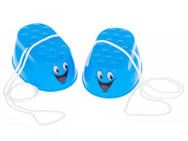 Szczudła dla dzieci chodaczki kubełkowe w pudełku 2 pary