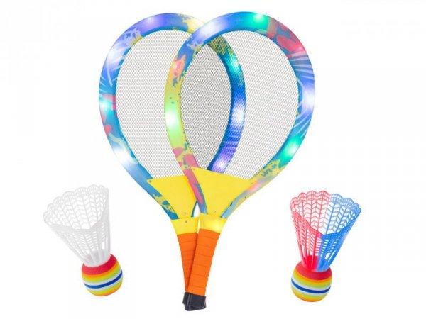 Rakiety tenisowe świecące LED + lotki