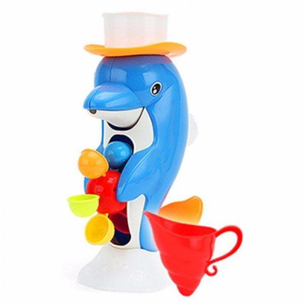 Zabawka do kąpieli delfin z młynkiem + akcesoria
