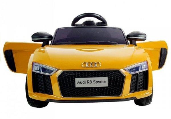 Audi R8 Spyder Roadster Cabrio Żółty Auto na Akumulator