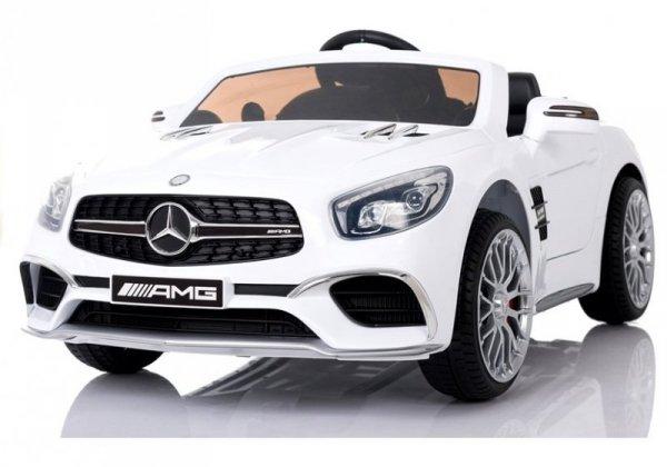 Mercedes SL65 AMG Biały Auto na Akumulator
