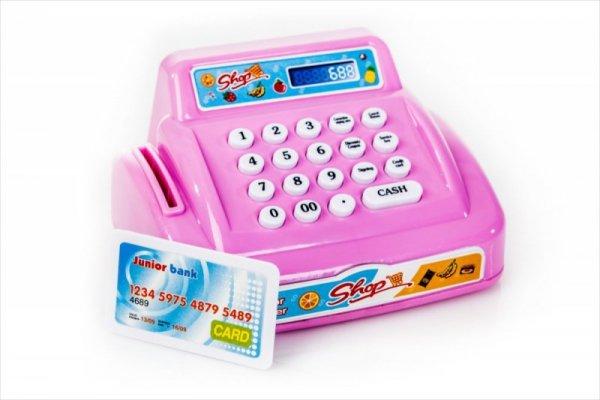 Różowa kasa fiskalna - karta kredytowa