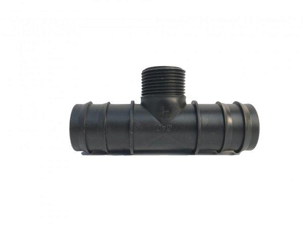Trójnik plastikowy wciskany redukcja fi 40x1 cal GZ 40 mm