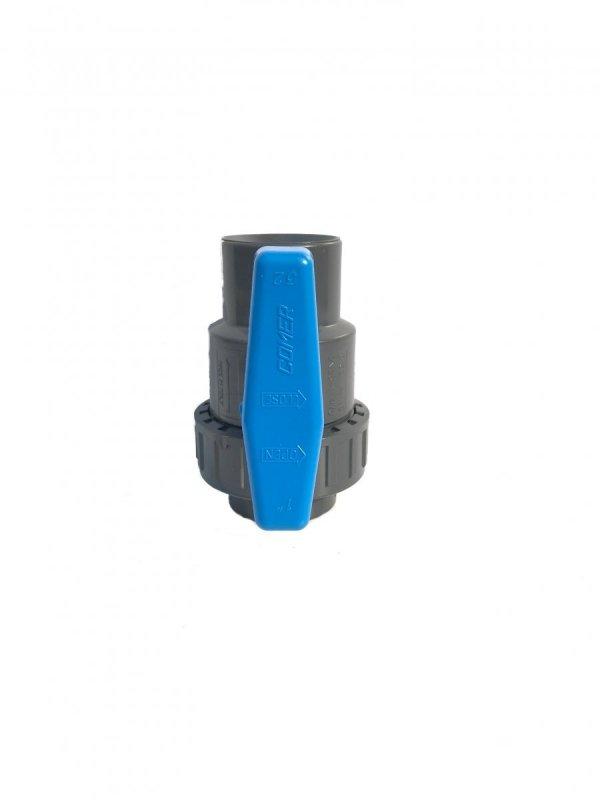 """Zaworek plastikowy PVC 1"""" gwint wewnętrzny PN 16"""