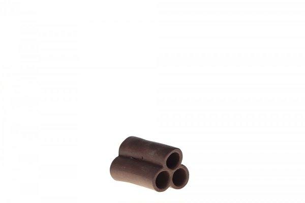 Rurkobloczek Mini 3-Rurki Bardzo Ciemny