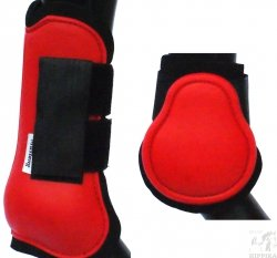 Ochraniacze twarde anatomiczne czerwone