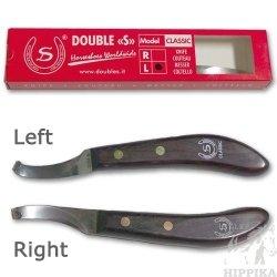 Nóż do kopyt lewy Double S