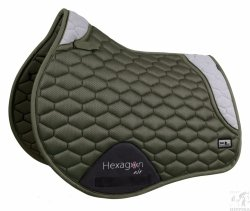 Czaprak Fair Play Hexagon AIR MESH 3D VS olive - grey