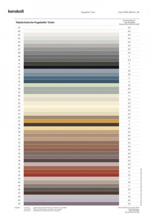 KERAKOLL Fugabella Color Fuga 3 kg Kolor 43