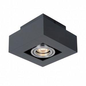 ITALUX CASEMIRO IT8002S1-BK/AL LAMPA OPRAWA NATYNKOWA NOWOCZESNA KWADRATOWA CZARNA