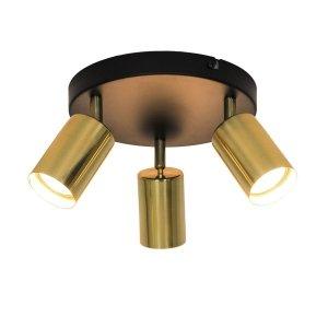LAMPA PLAFON SPOT REFLEKTOR CZARNO ZŁOTY ZUMA GU13013C-3R VILA