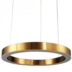 LAMPA WISZĄCA RING OBRĘCZ KOŁO CIRCLE 120CM ZŁOTA MOSIĄDZ