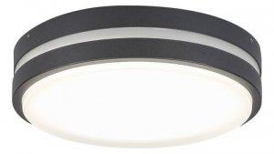 LAMPA SUFITOWA PLAFON ZEWNĘTRZNY OGRODOWY ANTRACYT RABALUX 8848 HAMBURG