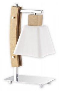 Dreno lampka stołowa 1 pł. / drewno (dąb) + chrom