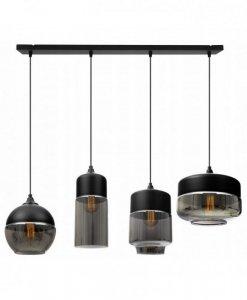 Lampa wisząca ze szklanymi kloszami - OSLO 2234/4/G/MIX