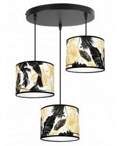 Lampa wisząca kuchenne - GOLD FLOWERS 2301/3/OW