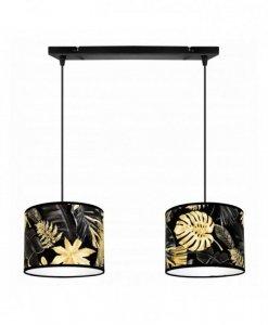 Lampa wisząca z abażurem - GOLD FLOWERS 2300/2/20