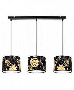 Lampa wisząca z abażurem - GOLD FLOWERS 2300/3/20