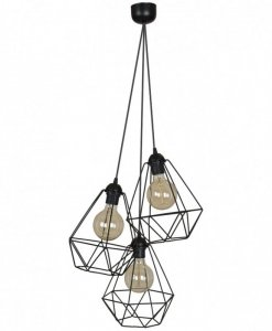 Lampa 3-płomienna LOFT Industrialna - FUSION 1545/3/L