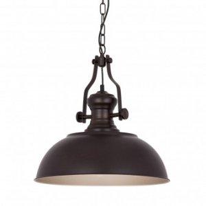 ITALUX ROSALIA MDM-2646/1 BR+GD LAMPA WISZĄCA CZARNA INDUSTRIALNA DO SALONU