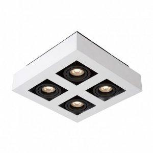 ITALUX CASEMIRO IT8001S4-WH/BK LAMPA OPRAWA NATYNKOWA NOWOCZESNA KWADRATOWA CZARNO BIAŁA