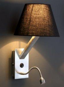 MAXLIGHT ORLANDO 5103WA/BLNM KINKIET Z LAMPKĄ DO CZYTANIA CZARNY