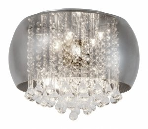 PLAFON LAMPA SUFITOWA Z KRYSZTAŁKAMI SZKLANA KRYSZTAŁOWA ŻYRANDOL RABALUX 3598 NINELLE