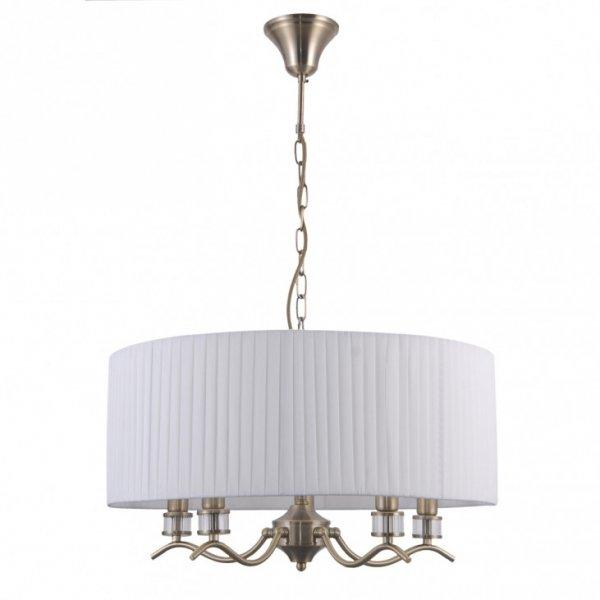 ITALUX FERLENA PND-28343-5A LAMPA WISZĄCA ŻYRANDOL Z ABAŻUREM