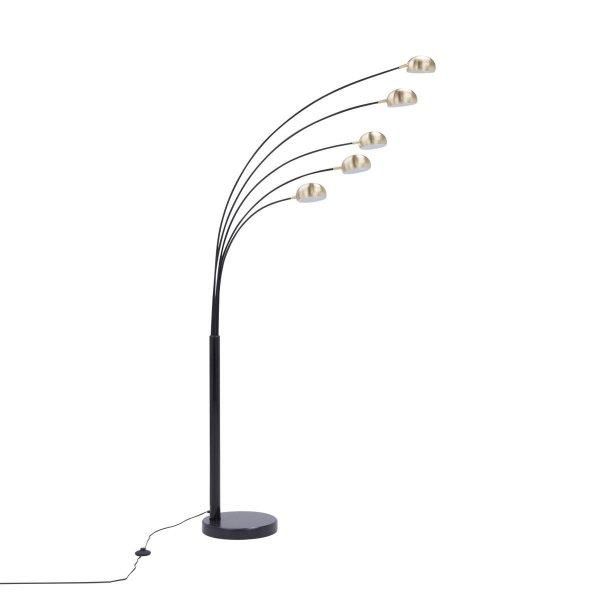 ZUMA LINE TS-5805-BKBB ZODIAC LAMPA PODŁOGOWA CZARNO ZŁOTA