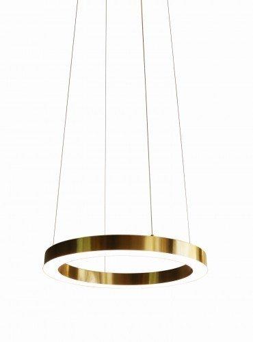 LAMPA WISZĄCA LED ZŁOTE KOŁO OBRĘCZ ROSSINI 60CM AUHILON