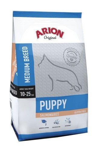2x Arion Original Puppy Medium Salmon & Rice 12kg