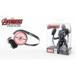 Słuchawki bezprzewodowe z mikrofonem E-Blue Avengers Ultron EBT932SR srebrno - czerwony
