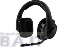 Słuchawki z mikrofonem Logitech G533 bezprzewodowe czarne